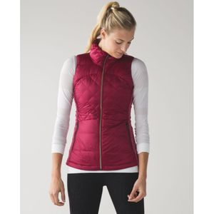 Lululemon Down For A Run Vest in Berry Rumble